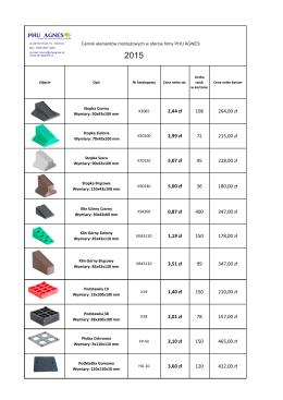 Cennik elementów montażowych PHU Agnes 2015.cdr
