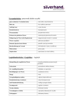 Słownik dla pracownika produkcji i operatora wózka