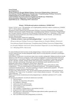 NOMED 2015 – relacja - Samodzielny Publiczny Szpital Kliniczny im
