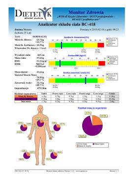 Przykładowa analiza składu ciała
