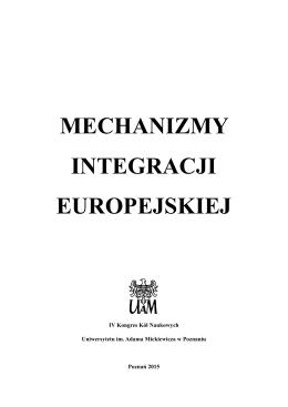 mechanizmy integracji europejskiej