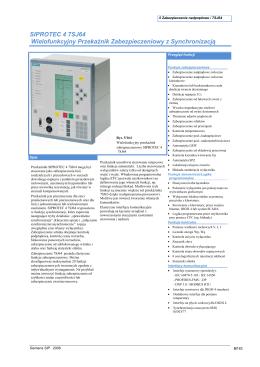 SIPROTEC 4 7SJ64 Wielofunkcyjny Przekaźnik Zabezpieczeniowy z