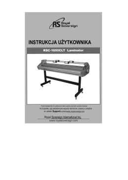 instrukcja RSC 1650 CLT