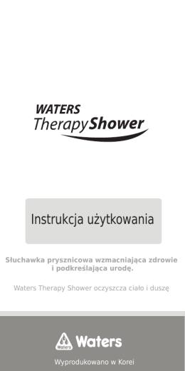 Pobierz instrukcję obsługi WATERS Therapy Shower