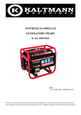 instrukcja obsługi generatory prądu k