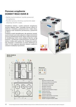 Pionowe urządzenie DOMEKT REGO 450VE-B - MK-WENT
