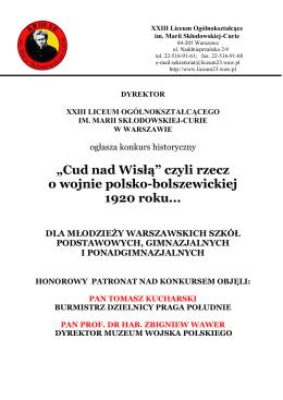 """""""Cud nad Wisłą"""" czyli rzecz o wojnie polsko"""