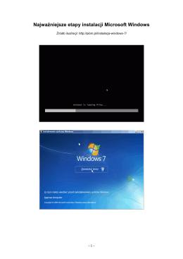 Najważniejsze etapy instalacji Microsoft Windows