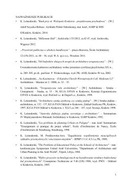 """NAJWAŻNIEJSZE PUBLIKACJE • K. Leśnodorski, """"Bank przy ul"""