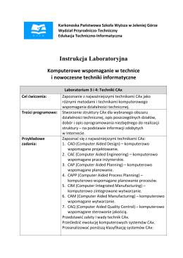 Lab 3 i 4 - Techniki CAx