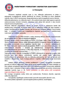 Informacja Państwowego Powiatowego Inspektora Sanitarnego w