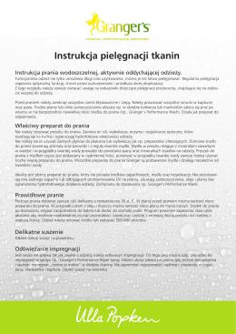 Instrukcja pielęgnacji tkanin