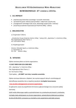 Regulamin - Pulsar Sport