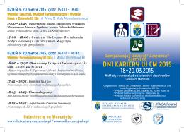 program Dni Kariery UJ CM 2015