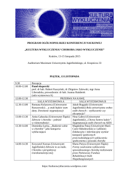 Cały program konferencji od piątku 13.11. do
