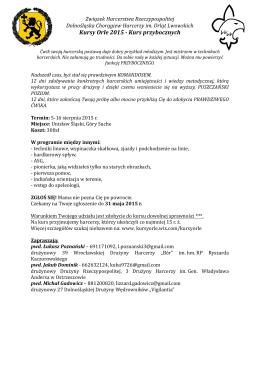 Kursy Orle 2015 - Kurs przybocznych