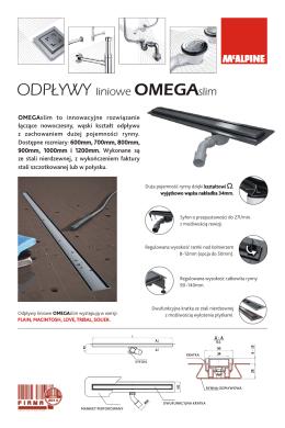 Ulotka odpływy liniowe OMEGA i GAMMA w PDF