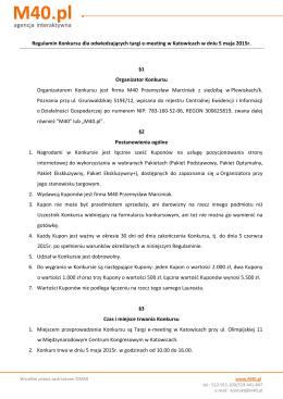 Regulamin targi 2015