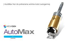 | AutoMax frez do pobierania wiórów kości autogennej