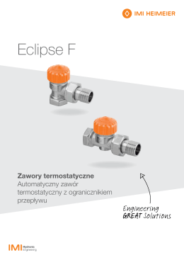 Eclipse F - IMI Hydronic Engineering
