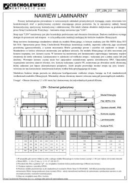 """Wielkość modułu Wydatek powietrza """"Q"""" [m3/h] Prędkość przepływu"""