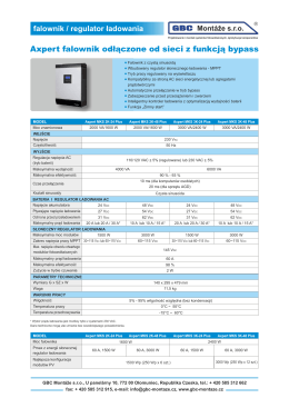 Axpert MKS Plus Inverter tech. list PL
