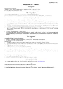 Regulamin Promocji -OPTICAL INTERNET PLUS