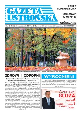 42/2015 - Archiwum Gazety Ustrońskiej
