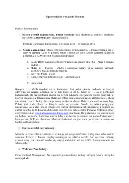 Sprawozdanie z wyjazdu Erasmus, ECE LYON, Francja, semestr