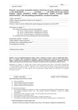 wniosek_new - Biuro Uznawalności Wykształcenia i Wymiany