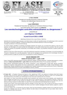 Flasz191 - Kwiecień – Maj 2015 - Stowarzyszenie Inżynierów i