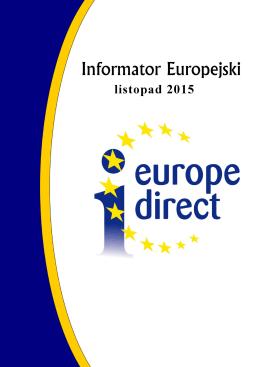 Informator Europejski – Listopad 2015 - Europe Direct Bielsko