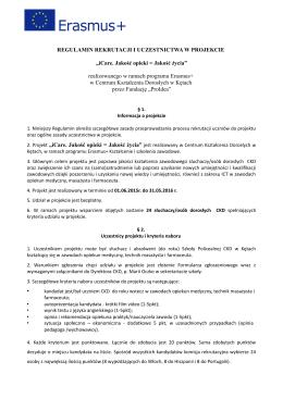 Regulamin rekrutacji Uczniów - Centrum Kształcenia Dorosłych w