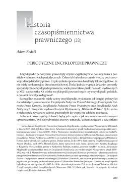 Periodyczne encyklopedie prawnicze