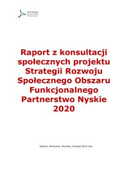 Zbiorczy raport z konsultacji społecznych projektu Strategii Rozwoju