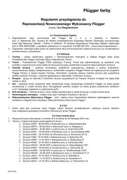 Regulamin uczestnictwa w szkoleniach