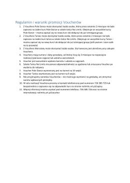 Regulamin i warunki promocji Voucherów