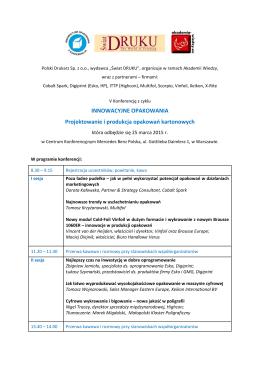 Program konferencji Innowacyjne Opkowania