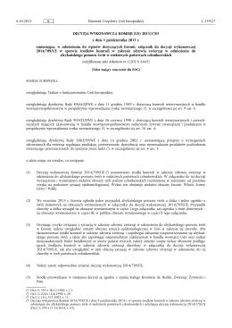 DECYZJA WYKONAWCZA KOMISJI (UE) 2015/ 1783
