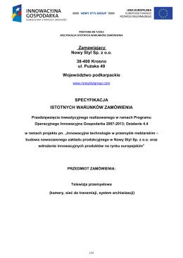 SIWZ PDF, 0.1 MB - Nowy Styl Group