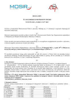 regulamin - Miejski Ośrodek Sportu i Rekreacji w Olkuszu