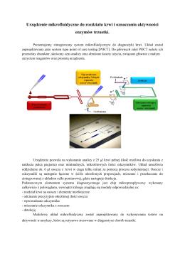 Urządzenie mikrofluidyczne do rozdziału krwi i
