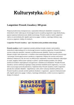 Langsteiner Proszek Zasadowy 300 gram