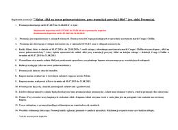 "Regulamin promocji: "" Rabat -40zł na towar"