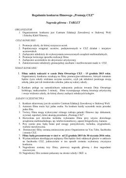 regulaminie - Centrum Edukacji Zawodowej w Stalowej Woli
