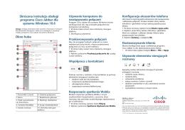Instrukcja obsługi programu Cisco Jabber dla systemu Windows