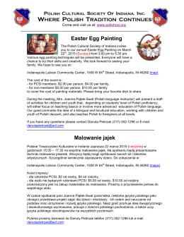 Easter Egg Painting Malowanie jajek