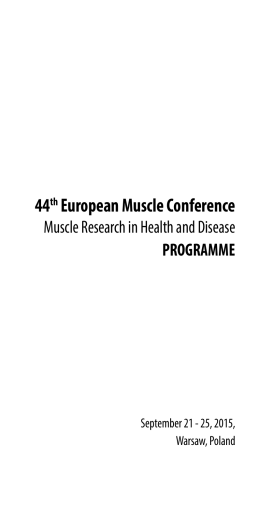 44th European Muscle Conference