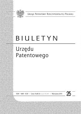 bup25_2015 - Wyszukiwarka Urzędu Patentowego