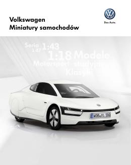Miniatury modeli Volkswagena
